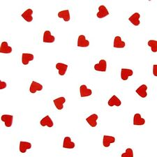 Red Hearts on White Tissue Paper #297 - Valentine's Day - Wedding..10 Lg. Sheets