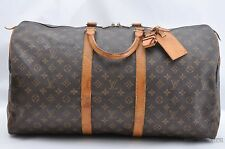 Authentic Louis Vuitton Monogram Keepall 55 Boston Bag M41424 LV 28672