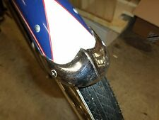 """N.O.S. WHIZZER / SCHWINN / ANY BICYCLE: 3 1/4"""" FENDER TIPS. COOL ADORNMENTS!!"""