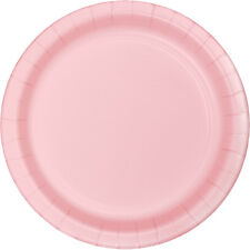 "24 Classic Pink Wedding Birthday Party Tableware 9"" Paper Lunch Plates"
