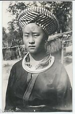 BM316 Carte Photo vintage card RPPC Indochine Type traditionnel Femme