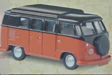 Vanguards. VA08100 V W CAMPER IN SEALING WAX RED & CHESTNUT BROWN NEW
