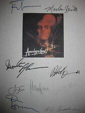 Apocalypse Now Signed Film Script X9 Marlon Brando Martin Sheen Harrison Ford RP