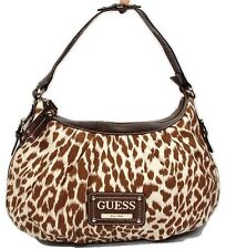 New Guess Zoo Brown Cognac  Women's Leopard Print  Hobo Shoulder Bag Handbag