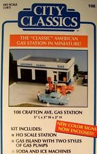 New  HO Scale Gas Station Kit  Gulf,Texaco,Esso,Mobil,Sinclair,76,Flying A, Pure