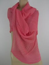 NWT PLEATS PLEASE BY ISSEY MIYAKE CHAMBRAY  SCARF-WRAP