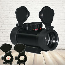 Red/Green Dot Sight Scope Tactical Reflex  w/ Flip-up Lens Covers and Mounts