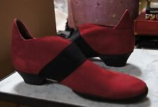 Arche Foflex Red Nubuck Leather Mid Heeled Shoes UK 4