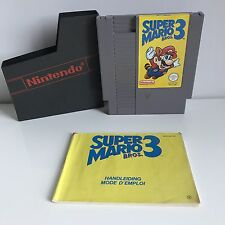 NES nintendo SMB3 Super mario Bros 3 FR PAL B W/ Booklet
