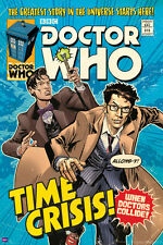10th & 11th DOCTOR WHO: TIME CRISIS - 24x36 BBC TV Show Comic Art Poster (5606)