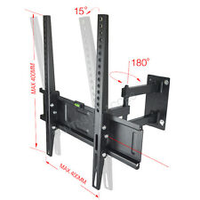 PLASMA LCD LED 3D TV WALL BRACKET MOUNT TILT SWIVEL 26 28 32 36 40 42 VESA 400mm