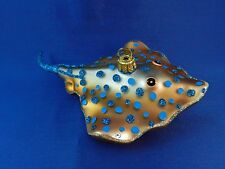 Stingray Ocean Sealife Animal Glass Christmas Tree Ornament Poland 011173