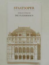 Wiener Staatsoper Johann Strauss die Fledermaus Programmheft