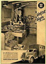 Hahn & Kolb Stuttgart DER HK-WERKSTATTWAGEN  Historische Reklame von 1941