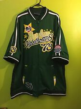 Platinum Fubu Harlem Globetrotters '73 Green Full Zip Jersey Men's 3XL XXXL