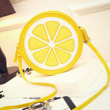 Fashion Fruit Style Lemon Slice Crossbody Shoulder Bag Messager Handbag Clutch