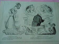 Expo Cnaine Chien Monument Corneille et Molière Image Print Humour 1906