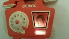 VINTAGE TOY PHONE TELEPHONE OGONEK BATTERY OPERATED COMUNIST ERA USSR RUSSIAN