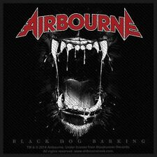 AIRBOURNE - Patch Aufnäher - Black dog barking 10x10cm
