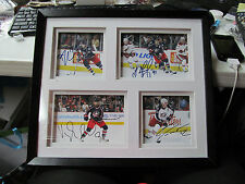Columbus Blue Jackets NFL Hockey Shadow Box Style 4 Photos with Autographs  NICE