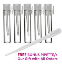 100 Empty Sample Glass Vial Bottles, Perfume Samplers 1ML + FREE PIPETTES Vials