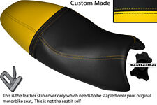 YELLOW & BLACK CUSTOM FITS TRIUMPH SPEED TRIPLE 08-10 1050 LEATHER SEAT COVER