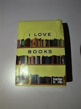 I Love Books Buttons For Book Lovers Brand New & Sealed Ref#G86