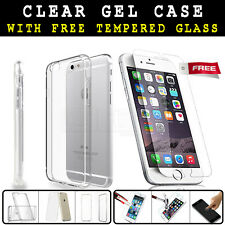 "Ultra Thin New Gel Case &  Tempered Glass Screen Protector for iPhone 6 6S"" [*]"