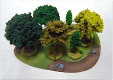 LARGE DECIDUOUS FOREST - 7 pieces - Warhammer Bolt Action - 28mm painted