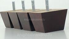4x Bloque De Madera Patas De Muebles / Patas Para Sofás, Sillones, sillas y taburetes M8