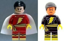 Custom Minifigure Shazam & Balck Adam Superhero Batman Printed on LEGO Parts