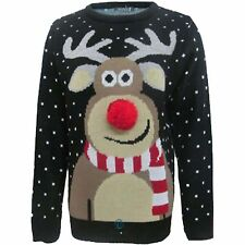 WOMENS MENS CHRISTMAS JUMPER  NOVELTY VINTAGE lot XMAS RETRO SWEATER unisex