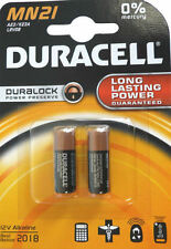 NEW 2 x DURACELL SECURITY MN21 23AE 23A A23 V23GA 12v ALKALINE BATTERY EXP 2018
