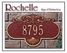 Whitehall Rochelle Grande Large Address Marker Personalized Plaque in 17 Colors