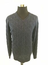 New $189 DANIEL CREMIEUX Signature Collection 100% Alpaca Sweater Sz XL NWT Blue