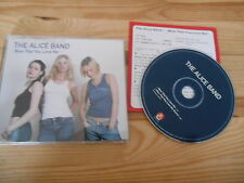 CD Pop Alice Band - Now That You Love Me (2 Song) Promo INSTANT KARMA Presskit