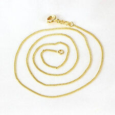 Charming korean jewelry Womens Yellow Gold Filled Chain Necklace 17.5 Inches