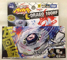 TAKARA TOMY BEYBLADE METAL FUSION BB-43 LIGHTNING L-DRAGO 100HF and LAUNCHER NEW