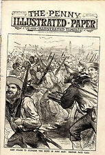 "BRITISH SAILORS IN PORT SAID -HENRY IRVING- -""THE PENNY ILLUSTRATED PAPER (1882)"
