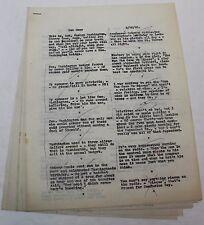 Bob Hope * 1940 Early RARE Original Radio Script * Short Radio Show Comedy