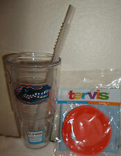 TERVIS FLORIDA GATORS TUMBLER 24 OUNCE WITH LID & STRAW NEW