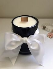Home made Decent 100% Nature Soy Wax Candle Opaque Black Jar 175ml