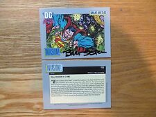 1991 DC COSMIC ALIEN INVASION VS SUPERMAN CARD SIGNED BART SEARS ART,WITH POA