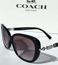 NEW* Coach Designer L953 BLACK w GOLD Grey Gradient Women's Sunglass HC8164 $240