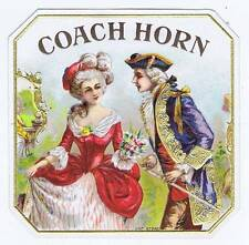 Coach Horn, original outer cigar box label, courting