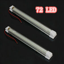 2x 12V 72 voiture led intérieur blanc strip lights bar lampe van caravane ❃ on off switch