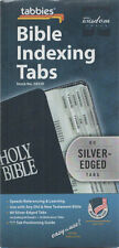 Tabbies Bible Indexing Tabs 80 Silver Edged Tabs Old & New Testament BRAND NEW
