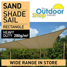 DIY Shade Sail 1.2 m x 2.3 m SAND Rectangle 280gsm looks better & last longer