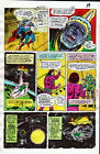 SUPERMAN #312 Page 11 HAND COLORED PRINTER GUIDE Inked by Frank Springer 6/77 DC