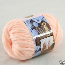 Sale New 1 Skein x 50g Soft Pure Cotton Chunky Super Bulky Hand Knitting Yarn 04